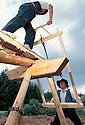 01/07/97 - SAINT AMANT ROCHE SAVINE - PUY DE DOME - FRANCE - Scieurs de long - Photo Jerome CHABANNE