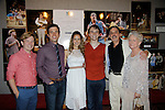 As The World Turns' Marnie Schulenburg and husband actor Zack Robidas  star in rep (2 shows alternating dates) in both The Foreigner and Henry V pose with castmates -  (L to R) David Button - Jacob Dresch - Carl Wallnau - Jane Ridley from July 8 to August 2 at the Pennsylvania Shakespeare Festival in Center City, Pennsylvania.  (Photos by Sue Coflin/Max Photos)
