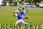 Lispole's Alan Devane is deemed to have brought down Renards Daragh Fitzgerald in a dangerous position right in front of goal.