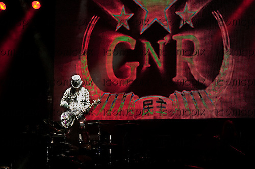 GUNS N' ROSES - guitarist DJ Ashba performing live in at the Palladium in Hollywood, CA USA - March 9, 2012. Photo © Kevin Estrada / Iconicpix