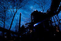 Jonathan Park's light installation in the Landschaftspark Duisburg-Nord (Germany, 02/04/2010)