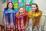 l-r  Grace Johnson, Mia Stepien and Emily Flynn getting ready for the Scoil Eoin Balloonagh Christmas Concert on Monday