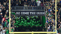 The Irish gather in the tunnel.
