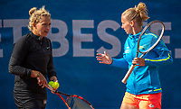 Zandvoort, Netherlands, 8 June, 2019, Tennis, Play-Offs Competition, Womans dubbles: Richel Hogenkamp and Michaëlla Krajicek (R) (NED)<br /> Photo: Henk Koster/tennisimages.com