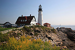 Portland Head Lighthouse in Cape Elizabeth, Maine, USA