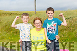 l-r  Kevin Horgan, Moira Horgan and Aaron Horgan from Ballyheigue at the BANNA Beast Cross Fit Challenge on Saturday