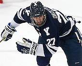 Charles Orzetti (Yale - 27) - The visiting Yale University Bulldogs defeated the Harvard University Crimson 2-1 (EN) on Saturday, November 15, 2014, at Bright-Landry Hockey Center in Cambridge, Massachusetts.