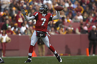 3 December 2006:  Falcons QB Michael Vick (7) throws downfield.  The Atlanta Falcons defeated the Washington Redskins 24-14 at FedEx Field in Landover, MD.