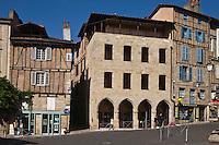 Europe/France/Midi-Pyrénées/46/Lot/Figeac:  Musée Champollion - Les Ecritures du Monde, la façade aux mille lettres, P. di Sciullo, 2007, Moatti & Rivière architectes MENTION OBLIGATOIRE