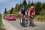 The breakaway group in action during the 2018 Liège - Bastogne - Liège (UCI WorldTour), Belgium, 22 April 2018, Photo by Thomas van Bracht / PelotonPhotos.com