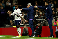 14th January 2020; Tottenham Hotspur Stadium, London, England; English FA Cup Football, Tottenham Hotspur versus Middlesbrough; A confused Ryan Sessegnon of Tottenham Hotspur as he receives instructions from Tottenham Hotspur Manager Jose Mourinho - Strictly Editorial Use Only. No use with unauthorized audio, video, data, fixture lists, club/league logos or 'live' services. Online in-match use limited to 120 images, no video emulation. No use in betting, games or single club/league/player publications