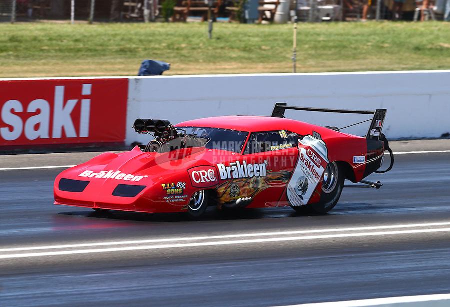 Jun. 1, 2013; Englishtown, NJ, USA: NHRA pro mod driver Peter Farber during qualifying for the Summer Nationals at Raceway Park. Mandatory Credit: Mark J. Rebilas-
