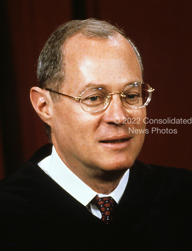 Associate Justice of the United States Supreme Court Anthony M. Kennedy poses for a photo during a photo-op at the U.S. Supreme Court in Washington, D.C. on Tuesday, September 11, 1990.  Kennedy was appointed by U.S. President Ronald Reagan in 1998..Credit: Robert Trippett / Pool via CNP