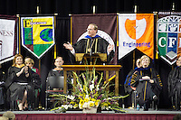 2016 Fall Convocation in Humphrey Coliseum:  President Mark E. Keenum's Charge to New Students.<br />  (photo by Megan Bean / &copy; Mississippi State University)