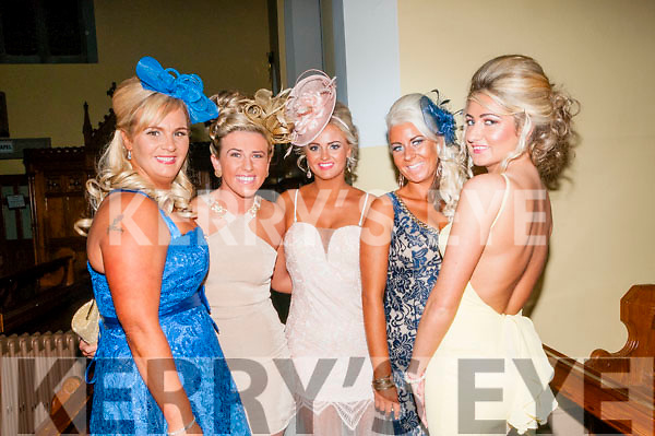 McCarthy/Coffey Wedding : Pictured at the McCarthy/ Coffey wedding in St. Mary's Church, Listowel on Friday last were Sandra McCarthy, Irish soccer pl;ayer Savannah McCarthy, Terri McCarthy, Gillian Lawlor & Sharlene McCarthy.
