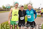 Aidan Hogan, Eoin Cremin and Shane Kearney ready for road at the Tralee Marathon on Saturday morning.