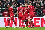 01.12.2018, Weserstadion, Bremen, GER, 1.FBL, Werder Bremen vs FC Bayern Muenchen<br /> <br /> DFL REGULATIONS PROHIBIT ANY USE OF PHOTOGRAPHS AS IMAGE SEQUENCES AND/OR QUASI-VIDEO.<br /> <br /> im Bild / picture shows<br /> Jubel 0:1, Torsch&uuml;tze Serge Gnabry (FC Bayern Muenchen #22) bejubelt seinen Treffer / Tor zum 0:1, Joshua Kimmich (FC Bayern Muenchen #32), David Alaba (FC Bayern Muenchen #27), <br /> <br /> Foto &copy; nordphoto / Ewert