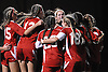 Center Moriches teammates celebrate after defeating Carle Place 3-2 in overtime in the varsity girls' soccer Class B Long Island Championship at Adelphi University on Saturday, November 7, 2015.