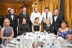 Kerry Radio Business awards night at Ballygarry House Hotel on Friday. Pictured front l-r Nicky McElligott, Niamh McDonagh, Allannah Tyrell, Ogy Ryan, Trish Murphy, back r-l Liam Griffin, Fred McDonagh, Adrian King, James Conboye, John Foyle,