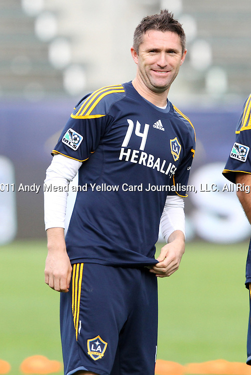 19 November 2011: Robbie Keane (IRL). The Los Angeles Galaxy held a practice session at the Home Depot Center in Carson, CA one day before playing in MLS Cup 2011.