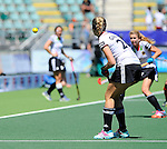 The Hague, Netherlands, June 13: Hannah Gablac #26 of Germany in action during the field hockey placement match (Women - Place 7th/8th) between Korea and Germany on June 13, 2014 during the World Cup 2014 at Kyocera Stadium in The Hague, Netherlands. Final score 4-2 (2-0)  (Photo by Dirk Markgraf / www.265-images.com) *** Local caption ***