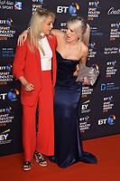 Amy Fuller &amp; Elise Christie arriving for the BT Sport Industry Awards 2018 at the Battersea Evolution, London, UK. <br /> 26 April  2018<br /> Picture: Steve Vas/Featureflash/SilverHub 0208 004 5359 sales@silverhubmedia.com