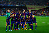 12th September 2017, Camp Nou, Barcelona, Spain; UEFA Champions League Group stage, FC Barcelona versus Juventus; FC Barcelona team poses for the photographers