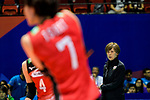 Team coach Kumi Nakada of Japan during the FIVB Volleyball Nations League Hong Kong match between Japan and Argentina on May 31, 2018 in Hong Kong, Hong Kong. Photo by Marcio Rodrigo Machado / Power Sport Images