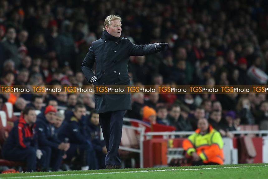 Southampton Manager, Ronald Koeman during Arsenal vs Southampton, Barclays Premier League Football at the Emirates Stadium