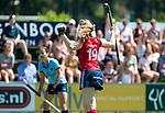 NIJMEGEN - Grace Huberts (Huizen)heeft gescoord  tijdens  de tweede play-off wedstrijd dames, Nijmegen-Huizen (1-4), voor promotie naar de hoofdklasse.. Huizen promoveert naar de hoofdklasse.  COPYRIGHT KOEN SUYK