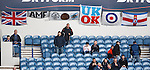 Rangers fans flags in the Copland