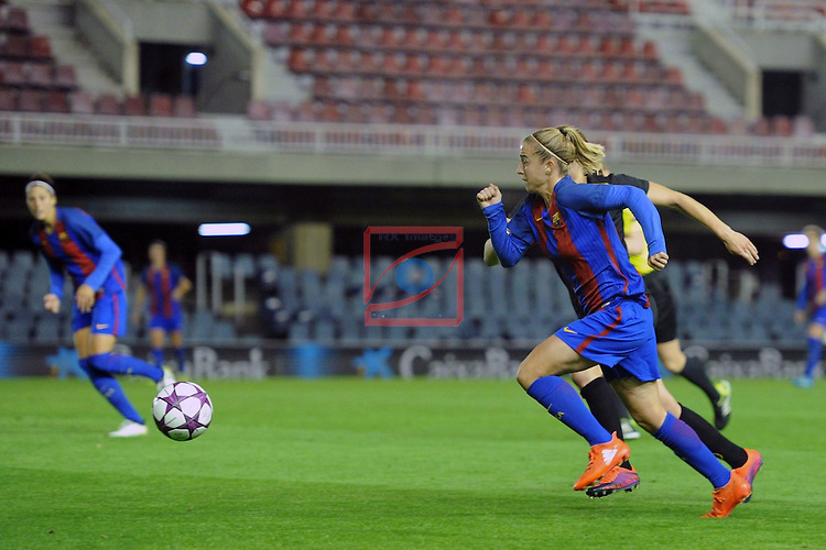 UEFA Women's Champions League 2016/2017.<br /> Round of 16 - First Leg<br /> FC Barcelona vs Twente: 1-0.<br /> Barbara Latorre.