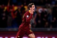 Nicolo Zaniolo Roma celebrates after scoring a goal.<br /> Roma 26-12-2018 Stadio Olimpico<br /> Football Calcio Campionato Serie A<br /> 2018/2019 <br /> AS Roma - Sassuolo<br /> Foto Antonietta Baldassarre / Insidefoto