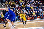 Kerron JOHNSON (#3 MHP Riesen Ludwigsburg) \Maxime DE ZEEUW (#12 EWE Baskets Oldenburg) \ beim Spiel MHP RIESEN Ludwigsburg - EWE Baskets Oldenburg.<br /> <br /> Foto &copy; PIX-Sportfotos *** Foto ist honorarpflichtig! *** Auf Anfrage in hoeherer Qualitaet/Aufloesung. Belegexemplar erbeten. Veroeffentlichung ausschliesslich fuer journalistisch-publizistische Zwecke. For editorial use only.