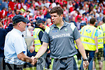 Eamonn Fitzmaurice Kerry Manager after the Munster Senior Football Final at Fitzgerald Stadium on Sunday.