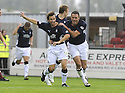 13/09/2008  Copyright Pic: James Stewart.File Name : sct_jspa21_falkirk_v_hearts.NEIL MCCANN CELEBRATES WITH MICHAEL HIGDON AFTER HE SCORES FALKIRK'S FIRST.James Stewart Photo Agency 19 Carronlea Drive, Falkirk. FK2 8DN      Vat Reg No. 607 6932 25.James Stewart Photo Agency 19 Carronlea Drive, Falkirk. FK2 8DN      Vat Reg No. 607 6932 25.Studio      : +44 (0)1324 611191 .Mobile      : +44 (0)7721 416997.E-mail  :  jim@jspa.co.uk.If you require further information then contact Jim Stewart on any of the numbers above........