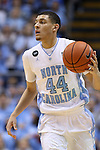 24 February 2015: North Carolina's Justin Jackson. The University of North Carolina Tar Heels played the North Carolina State University Wolfpack in an NCAA Division I Men's basketball game at the Dean E. Smith Center in Chapel Hill, North Carolina. NC State won the game 58-46.