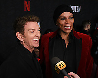 """10 January 2020 - Beverly Hills, California - Michael Patrick King and RuPaul Charles. Netflix's """"AJ And The Queen"""" Season 1 Premiere at The Egyptian Theatre in Hollywood.  <br /> CAP/MPI/ADM/BB<br /> ©BB/ADM/MPI/Capital Pictures"""