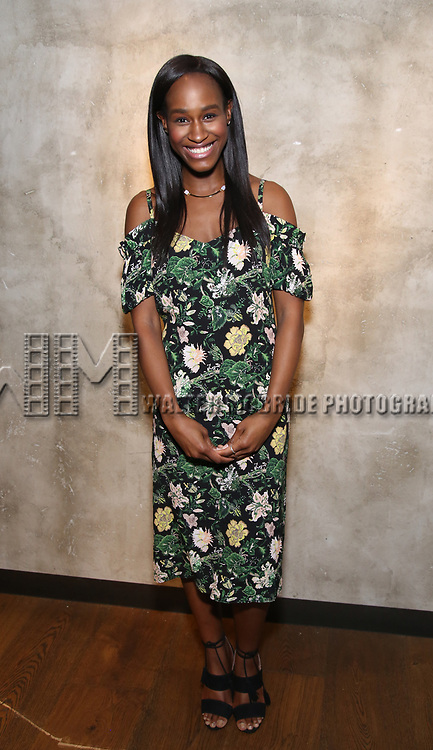 Nneka Okafor attends the Roundabout Theatre Company's Opening Night Party for 'Too Heavy For Your Pocket' at Burger and Lobster on October 5, 2017 in New York City.