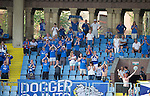 Alashkert FC v St Johnstone...02.07.15   Republican Stadium, Yerevan, Armenia....UEFA Europa League Qualifier.<br /> The travelling saints fans<br /> Picture by Graeme Hart.<br /> Copyright Perthshire Picture Agency<br /> Tel: 01738 623350  Mobile: 07990 594431