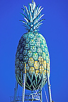 Giant pineapple water tower at Dole Cannery