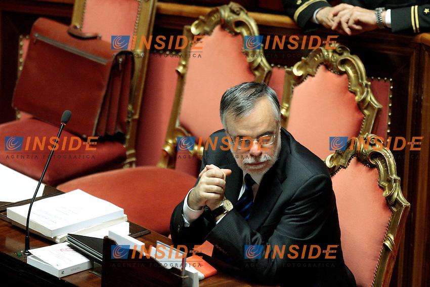 Andrea Riccardi.Roma 01/03/2012 Senato. Discussione sul DDL Liberalizzazioni. .Photo Samantha Zucchi Insidefoto
