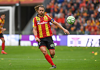 20191102 – Lens , France : Guillaume Gillet (27) of Lens pictured during a French Ligue 2 soccer game between Racing Club de Lens and FC Lorient , a football game on the 13th matchday in the French second league, on saturday 2 nd of November 2019 at the Stade Bollaert Delelis in Lens , France . PHOTO SPORTPIX.BE   DAVID CATRY