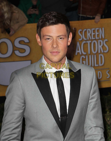 13 July 2013 - Vancouver, British Colombia, Canada - Glee star Cory Monteith was found dead Saturday in his hotel room at the Fairmont Pacific Rim Hotel in Vancouver. He was 31. The cause of death was not immediately apparent. An autopsy was set for Monday. According to police, there were no indications of foul play. They would not discuss what, if anything, was found in room. File Photo: 27 January 2013 - Los Angeles, California - Cory Monteith. TNT/TBS Broadcasts The 19th Annual Screen Actors Guild Awards Held At The Shrine Auditorium. <br /> CAP/ADM/KB<br /> &copy;Kevan Brooks/AdMedia/Capital Pictures