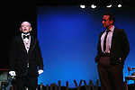 Roy Brown and Eric Parker star in Sunset Boulevard for several weeks in August at the Barn Theatre in Augusta, Michigan. The photos are from the dress rehearsal. (Photo by Sue Coflin/Max Photos)