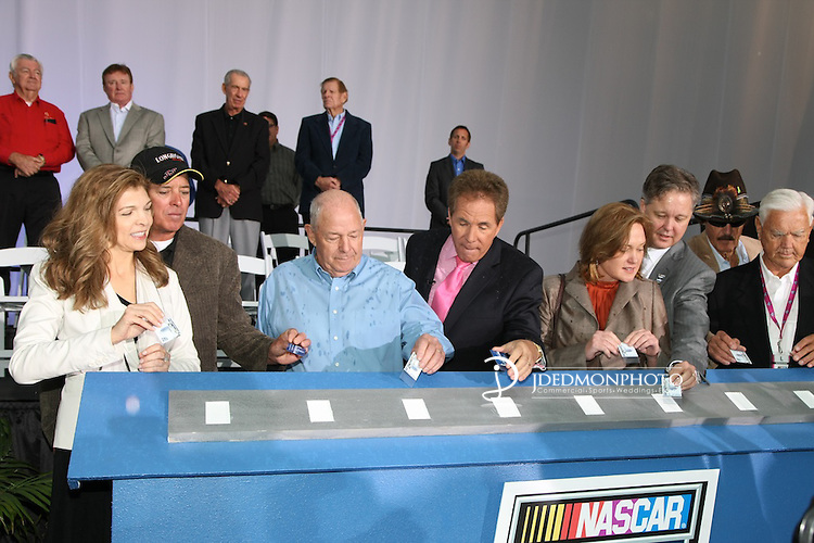 Nascar Hall of Fame Grand Opening by Teresa Earnhardt, Darryl Waltrip, Junior Johnson, Bill France, Jr., Richard Petty
