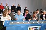 Nascar Hall of Fame Grand Opening by Teresa Earnhardt, Darryl Waltrip, Junior Johnson, Bill France, Jr., Richard Petty