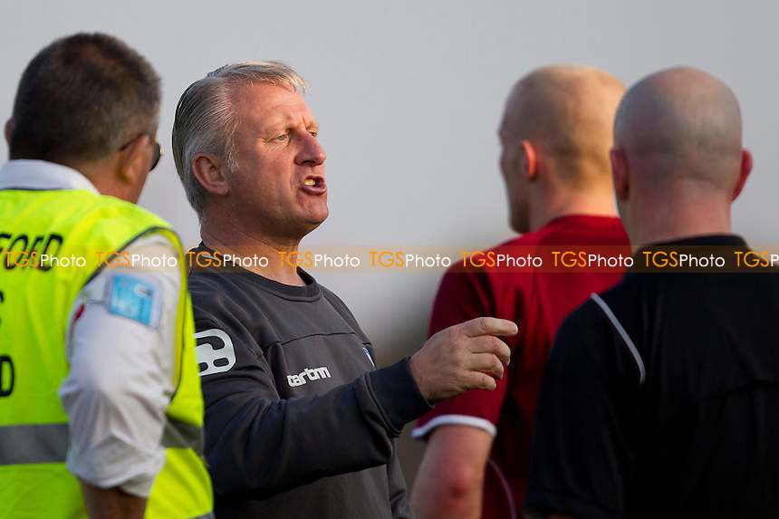 Glenn Pennyfather, Manager of Chelmsford City makes his point - Chelmsford City vs Basingstoke Town - Blue Square Conference South Football at Melbourne Park Stadium, Chelmsford - 24/03/12 - MANDATORY CREDIT: Ray Lawrence/TGSPHOTO - Self billing applies where appropriate - 0845 094 6026 - contact@tgsphoto.co.uk - NO UNPAID USE.