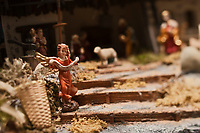Europe/Autriche/Niederösterreich/Vienne: Détail des vitrines de Noël du centre ville - Détail d'une crèche