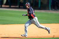 Atlanta Braves third baseman Chris Johnson #23 during a Spring Training game against the Detroit Tigers at Joker Marchant Stadium on February 27, 2013 in Lakeland, Florida.  Atlanta defeated Detroit 5-3.  (Mike Janes/Four Seam Images)